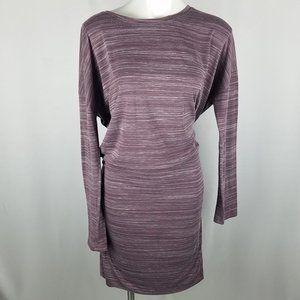 Athleta lavender/white space-dye dress XL